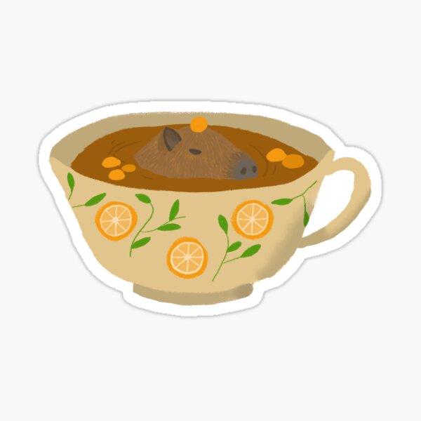 capybara in a teacup Sticker