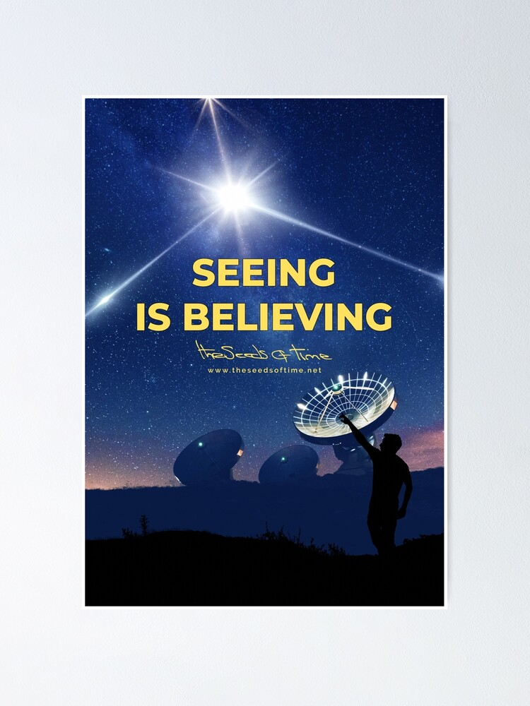 Alternate view of Seeing is Believing Poster