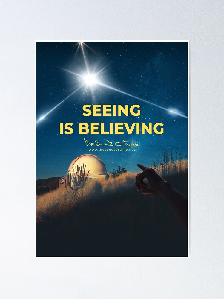 Alternate view of Seeing is Believing v2 Poster