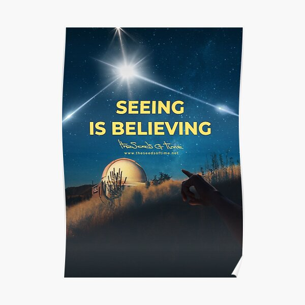 Seeing is Believing v2 Poster