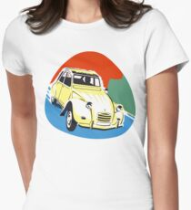 2cv Deux Chevaux seventies style Women's Fitted T-Shirt