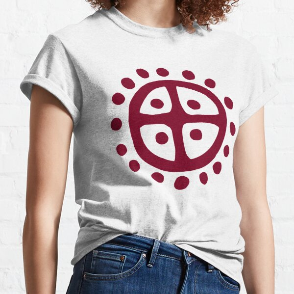 Nordic Sun Wheel Dark Red   Prehistoric Norse symbols Classic T-Shirt