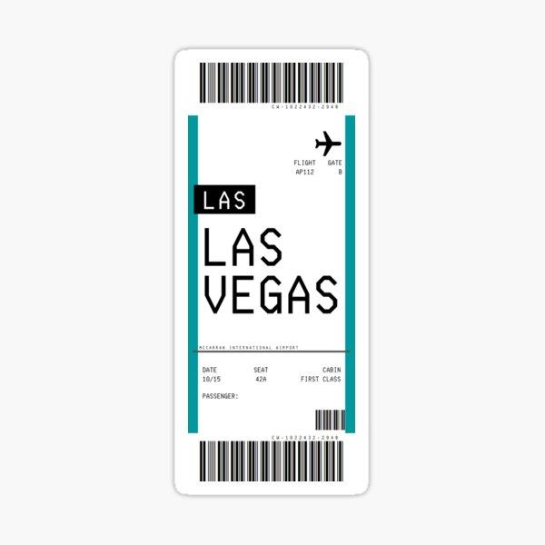 Las Vegas Boarding Pass Sticker