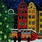 """Christmas market in Old Town,Stockholm"" by Gabriella Nilsson"