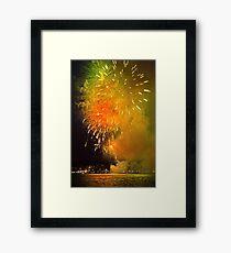 Geelong New Year's Fireworks 2012 Framed Print