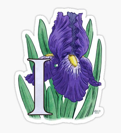 I is for Iris Sticker