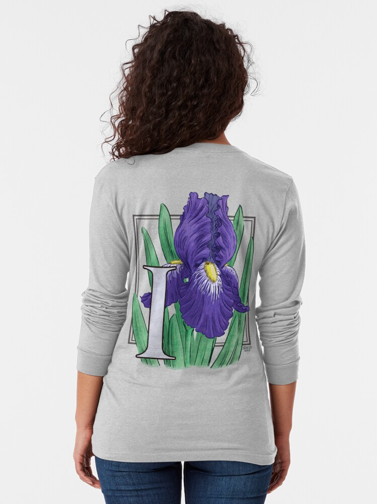 Alternate view of I is for Iris Long Sleeve T-Shirt
