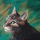 Cat Painting ( Kovu) by Lee Twigger