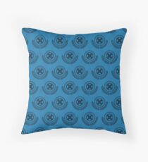 School For Gifted Youngsters - Blue Throw Pillow