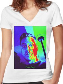 Good Day Women's Fitted V-Neck T-Shirt