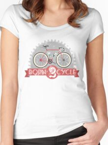 Born To Cycle Women's Fitted Scoop T-Shirt