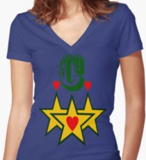 ۞»★Initial C Fantabulous Clothing & Stickers★«۞ Women's Fitted V-Neck T-Shirt