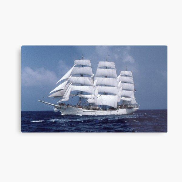 """ Tall Ship En-Route "" Metal Print"