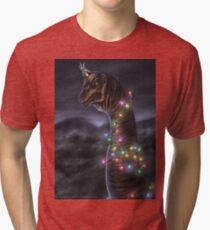 Brachiosaurus Christmas Tree Tri-blend T-Shirt