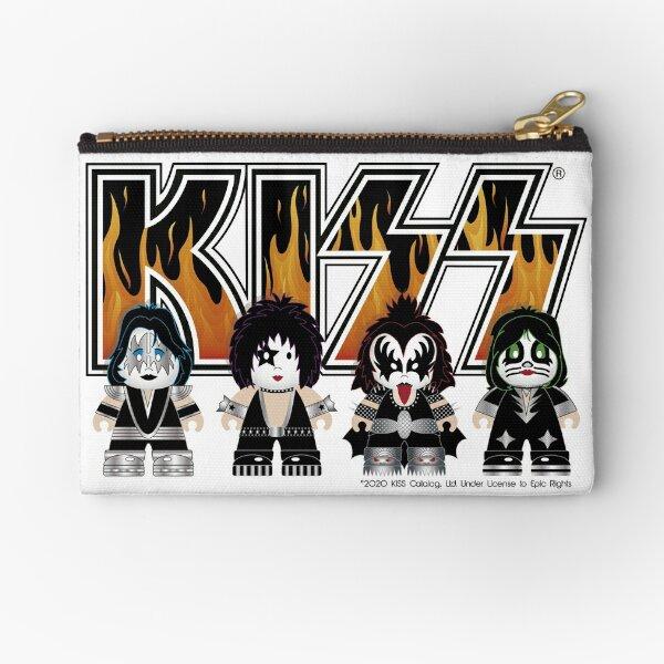 Kiss band - Logo Characters - Cute design for kids Zipper Pouch