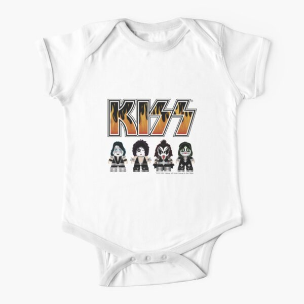 Kiss band - Logo Characters - Cute design for kids Short Sleeve Baby One-Piece
