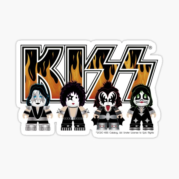Kiss band - Logo Characters - Cute design for kids Sticker