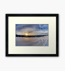 Snow and Mountains Framed Print