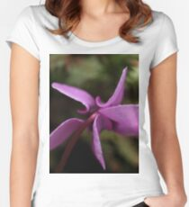 Close up of Flower Women's Fitted Scoop T-Shirt