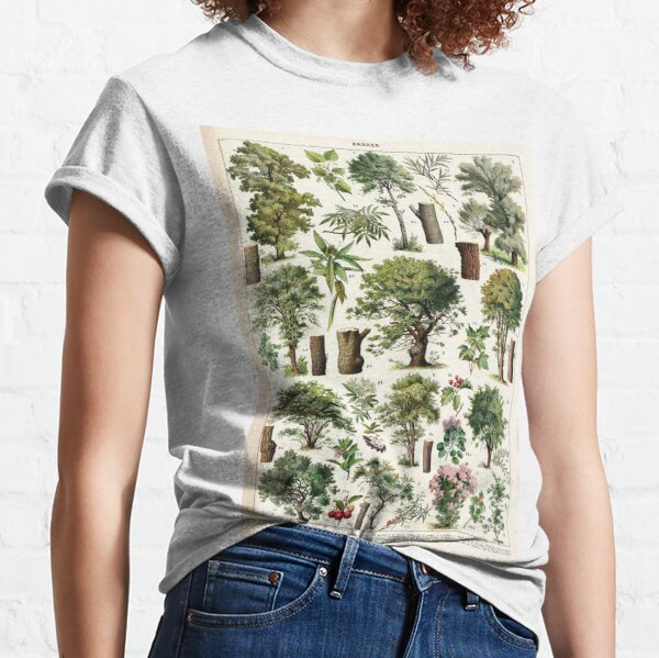 Adolphe Millot - Arbres A - French vintage botanical poster Classic T-Shirt