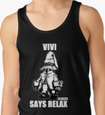 Vivi Says Relax - Monochrome White Tank Top