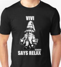 Vivi Says Relax - Monochrome White Unisex T-Shirt