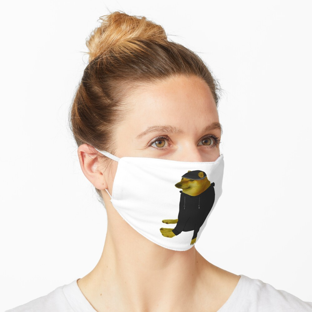 Cheems Doomer Mask By Moonman1232141 Redbubble