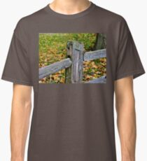Old Fence with Lichen Classic T-Shirt