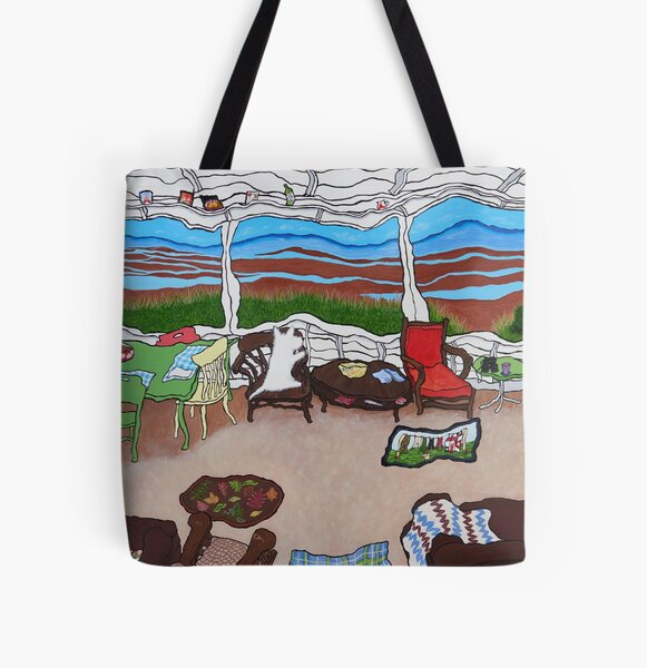 Nanna's Porch All Over Print Tote Bag