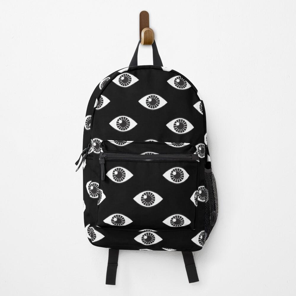 Eyes Wide Open - on Black Backpack