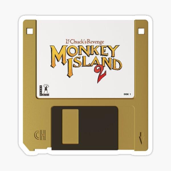 La venganza del disquete - Monkey Island 2 Pegatina