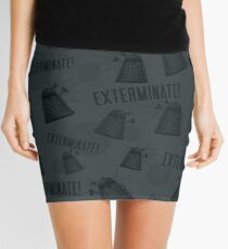 Daleks - Grey Mini Skirt
