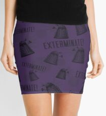 Daleks - Purple Mini Skirt