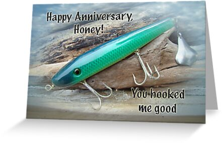 Anniversary Greeting Card - Saltwater Lure by MotherNature2