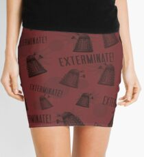 Daleks - Red Mini Skirt