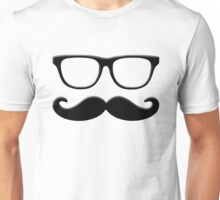 Mustache with Glasses Unisex T-Shirt