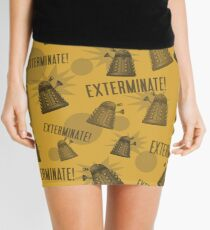 Daleks - Yellow Mini Skirt
