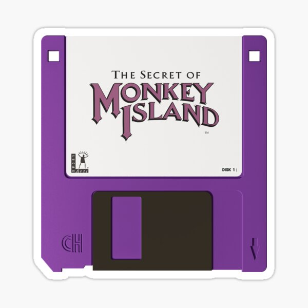 Shhh it's a secret! - Monkey Island Nostalgic Disc Sticker