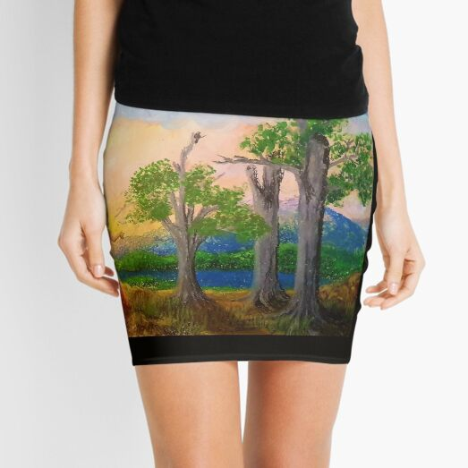 Daydreaming at night  Mini Skirt