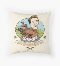Cage-Free Eggs Throw Pillow