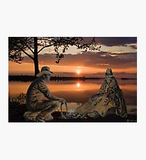 (◡‿◡✿) (◕‿◕✿) SUNSET COWBOYS PICTURE-PILLOW-TOTE BAGS- CELL PHONE COVERS ECT... (◡‿◡✿) (◕‿◕✿) Photographic Print