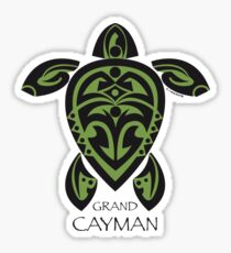 Black & Green Tribal Turtle Tattoo / Grand Cayman Sticker