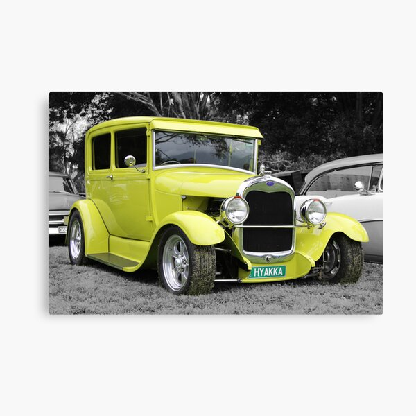 Lime Green Ford Hot Rod Canvas Print