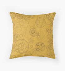 Gallifrey Pattern - Yellow Throw Pillow