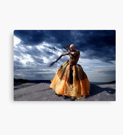 Exotic Street Dancer Canvas Print