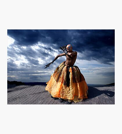 Exotic Street Dancer Photographic Print