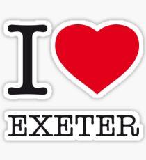 I ♥ EXETER Sticker