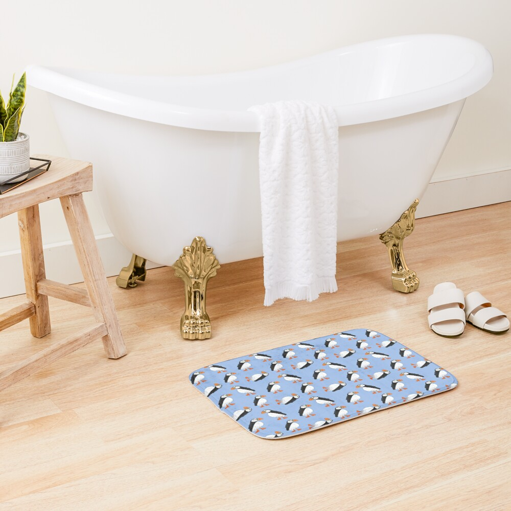 Cute and Whimsical Puffin Design  Bath Mat