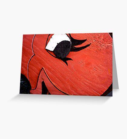 A Big Red Fish Greeting Card
