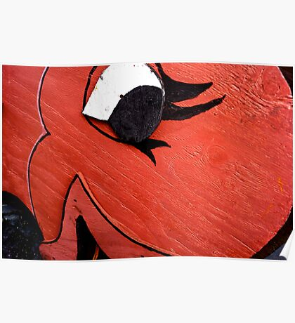 A Big Red Fish Poster